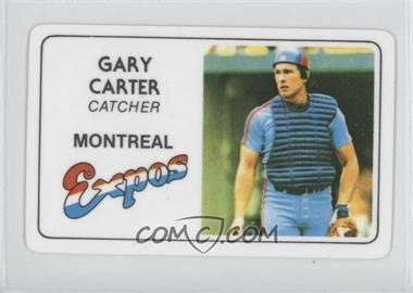 1981 Perma-Graphics/Topps Credit Cards - [Base] #125-032 - Gary Carter