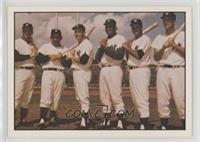 Roger Maris, Yogi Berra, Mickey Mantle, Elston Howard, Moose Skowron, Johnny Bl…