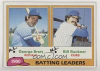 1980 Batting Leaders - George Brett, Bill Buckner [Poor to Fair]