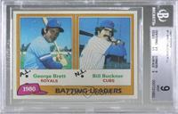 1980 Batting Leaders - George Brett, Bill Buckner [BGS9MINT]