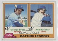 1980 Batting Leaders - George Brett, Bill Buckner [EXtoNM]