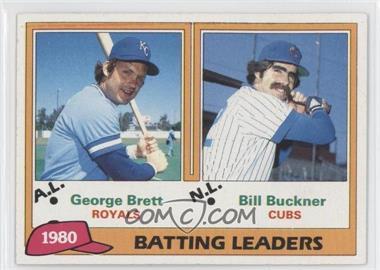 1981 Topps - [Base] #1 - George Brett, Bill Buckner