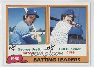 1981 Topps - [Base] #1 - George Brett, Bill Buckner