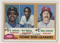 1980 Home Run Leaders - Reggie Jackson, Ben Oglivie, Mike Schmidt [NoneGo…