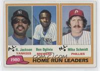 1980 Home Run Leaders - Reggie Jackson, Ben Oglivie, Mike Schmidt