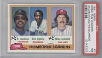 Home Run Leaders (Reggie Jackson, Ben Oglivie, Mike Schmidt) [PSA 7]