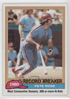 1981 Topps - [Base] #205 - Pete Rose