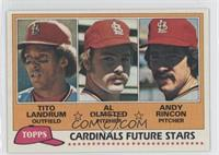 Cardinals Future Stars (Tito Landrum, Al Olmsted, Andy Rincon)