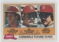 Cardinals Future Stars (Tito Landrum, Al Olmsted, Andy Rincon)