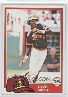 1981 Topps - [Base] #254 - Ozzie Smith [GoodtoVG‑EX]