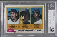 Juan Berenguer, Hubie Brooks, Mookie Wilson [BGS 7.5 NEAR MINT+]