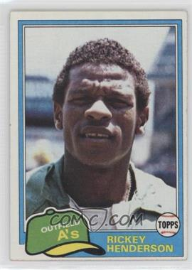 1981 Topps - [Base] #261 - Rickey Henderson