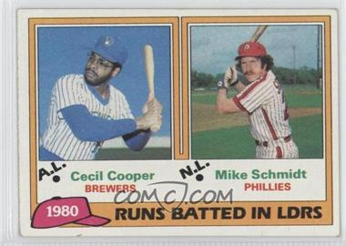 1981 Topps - [Base] #3 - Cecil Cooper, Mike Schmidt