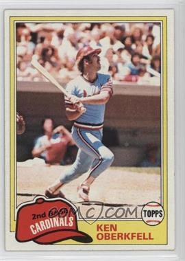 1981 Topps - [Base] #32 - Ken Oberkfell