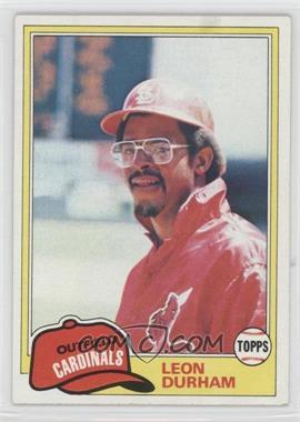 1981 Topps - [Base] #321 - Leon Durham