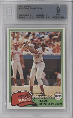 1981 Topps - [Base] #375 - Dave Concepcion [BGS 9]