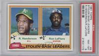 Ron LeFlore, Rickey Henderson [PSA 8 NM‑MT]