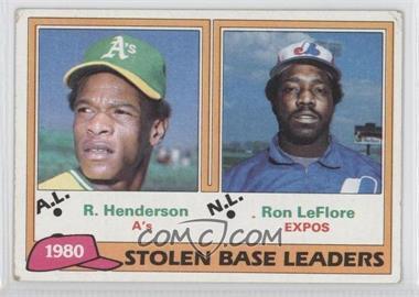 1981 Topps - [Base] #4 - Ron LeFlore, Rickey Henderson