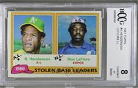 Ron LeFlore, Rickey Henderson [BCCG8]