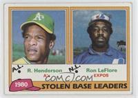 Ron LeFlore, Rickey Henderson