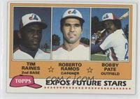 Future Stars - Tim Raines, Roberto Ramos, Bobby Pate