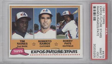 1981 Topps - [Base] #479 - Tim Raines, Bob Pate, Roberto Ramos [PSA9(OC)]
