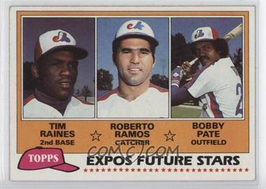 1981 Topps - [Base] #479 - Tim Raines, Bob Pate, Roberto Ramos