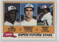 Tim Raines, Bob Pate, Roberto Ramos [Good to VG‑EX]