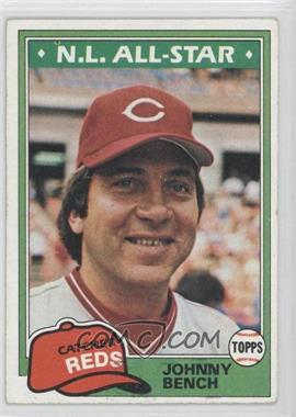 1981 Topps - [Base] #600 - Johnny Bench