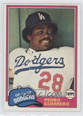 1981 Topps - [Base] #651 - Pedro Guerrero