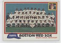 Team Checklist - Boston Red Sox