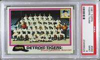 Team Checklist - Detroit Tigers [PSA 9]