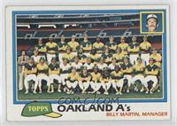 Team Checklist - Oakland A's [Good to VG‑EX]