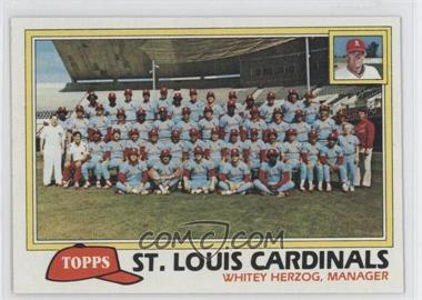 1981 Topps - [Base] #684 - Team Checklist - St. Louis Cardinals
