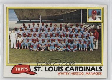 1981 Topps - [Base] #684 - Team Checklist - St. Louis Cardinals