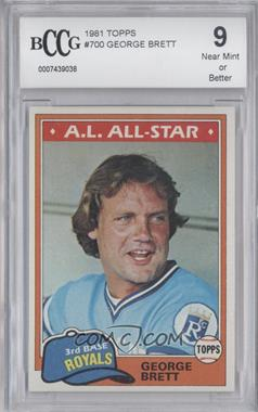 1981 Topps - [Base] #700 - George Brett [ENCASED]