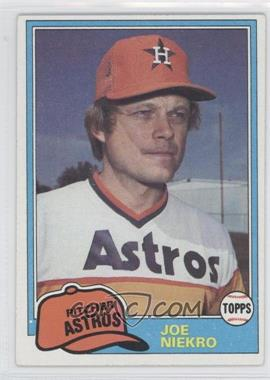 1981 Topps - [Base] #722 - Joe Niekro