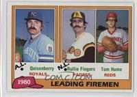 1980 Leading Firemen (Dan Quisenberry, Rollie Fingers, Tom Hume)