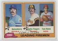 1980 Leading Firemen - Dan Quisenberry, Rollie Fingers, Tom Hume
