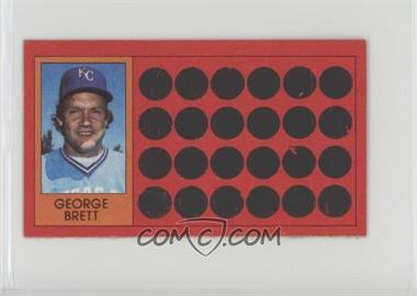 1981 Topps Baseball Scratch-Off - [Base] - Separated #1 - George Brett