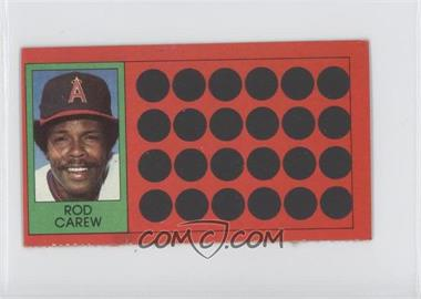 1981 Topps Baseball Scratch-Off - [Base] - Separated #18 - Rod Carew