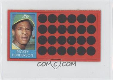 1981 Topps Baseball Scratch-Off - [Base] - Separated #39.2 - Rickey Henderson (Topps Super Sports Card Locker)