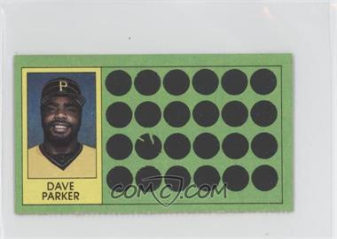 1981 Topps Baseball Scratch-Off - [Base] - Separated #59 - Dave Parker