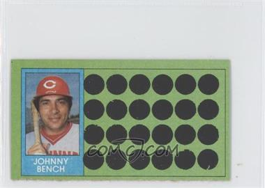 1981 Topps Baseball Scratch-Off - [Base] - Separated #64 - Johnny Bench