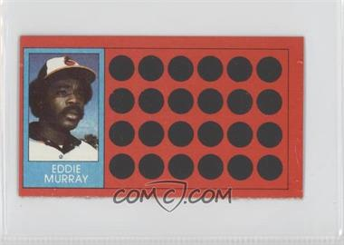 1981 Topps Baseball Scratch-Off - [Base] - Separated #9 - Eddie Murray