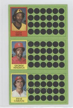 1981 Topps Baseball Scratch-Off - [Base] #104-85-68 - Ozzie Smith, George Hendrick, Steve Carlton
