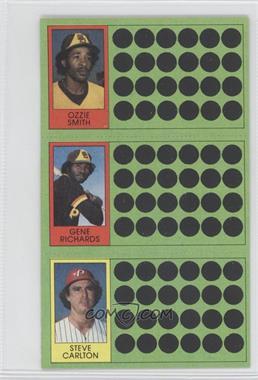 1981 Topps Baseball Scratch-Off - [Base] #104-86-68 - Ozzie Smith, Steve Carlton, Gene Richards
