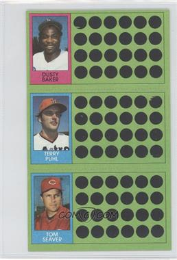 1981 Topps Baseball Scratch-Off - [Base] #107-88-71 - Dusty Baker, Terry Puhl, Tom Seaver