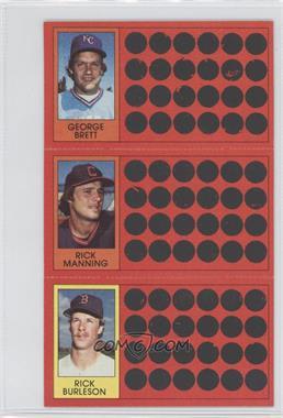 1981 Topps Baseball Scratch-Off - [Base] #37-19-1 - George Brett, Rick Burleson, Rick Manning