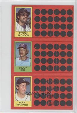 1981 Topps Baseball Scratch-Off - [Base] #38-21-3 - Reggie Jackson, Buddy Bell, Alan Trammell